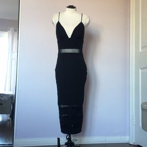 NWOT - Spaghetti-Strap Black Dress (ABYSS by Abby)